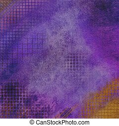 Grunge purple with color accents abstract textured background