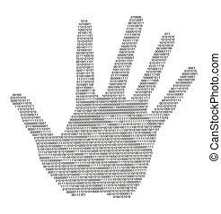 Digital hand silhouette