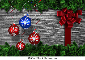 Digital hanging christmas bauble
