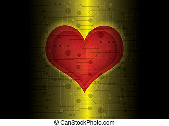 Digital heart inside technology