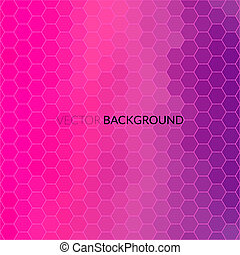 Digital hexagon pixel mosaic, bright background - Digital...