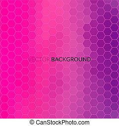Digital hexagon pixel mosaic, bright background - Digital...