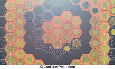 Digital Hexagonal Background, Beautiful 3d animation....