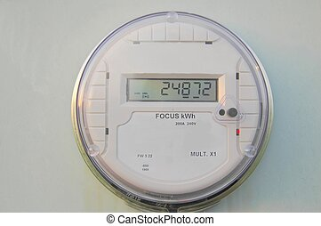 electrical hydro meter with digital reading