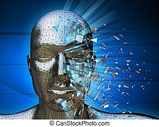 Digital identity - A digital identity disintegrating into...