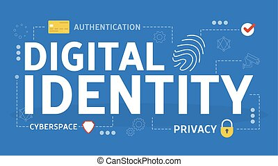 Digital identity concept. Biometric identification and verification