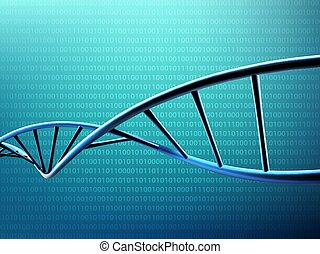 digital illustration DNA strand