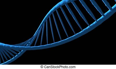 Digital illustration dna structure. Black background