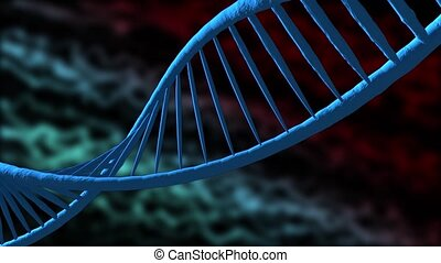 Digital illustration dna structure. Colour background