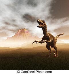 Dinosaur - Digital Illustration of a Dinosaur