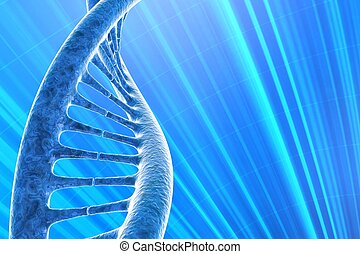 digital illustration of a DNA in beautiful background