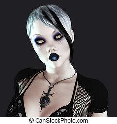Gothic Female - Digital Illustration of a Gothic Female