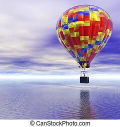 Hot Air Balloon - Digital Illustration of a Hot Air Balloon