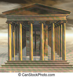 Temple - Digital Illustration of a Temple