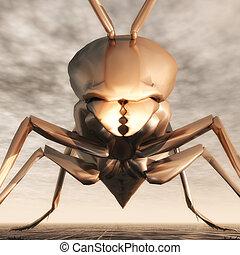 Wasp - Digital Illustration of a Wasp