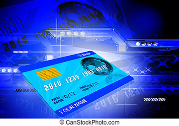 ATM CARD - Digital illustration of ATM CARD in color...