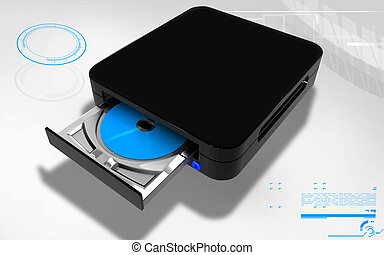 Blue ray device - Digital illustration of Blue ray device in...