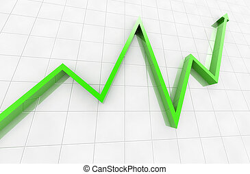 business graph - Digital illustration of business graph in...