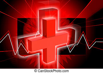 Clinical symbol - Digital illustration of Clinical symbol in...
