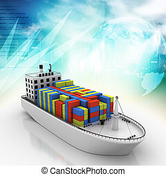 Digital illustration of Container