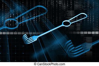 Medical Instrument Retractor - Digital illustration of ...