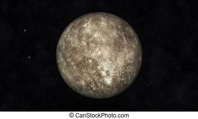 Mercury - Digital Illustration of Planet Mercury