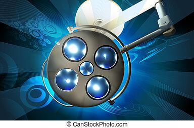 surgery light - Digital illustration of surgery light in ...