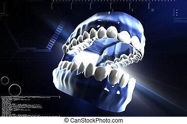 Teeth - Digital illustration of Teeth in colour background