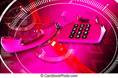 Telephone - Digital illustration of Telephone in colour...