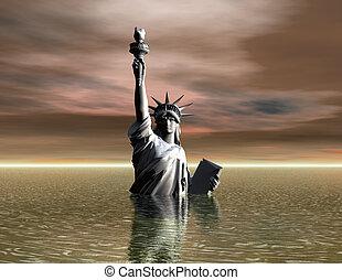 Liberty - Digital Illustration of the Liberty Statue