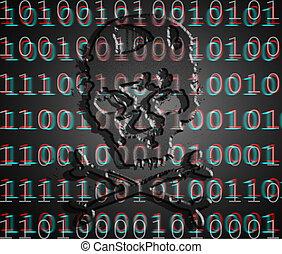 digital illustration withs skull