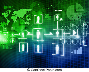 Digital image of  business networking