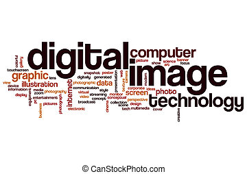 Digital image word cloud concept
