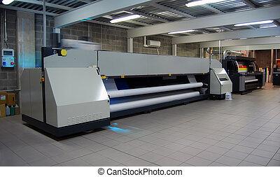 digital, impresión, -, de par en par, formato