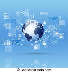 Digital Interface Blue Business Background
