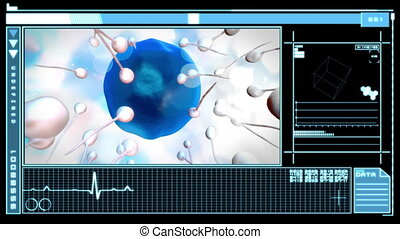 Digital interface displaying egg - Medical digital interface...