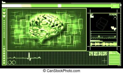 Digital interface featuring brain