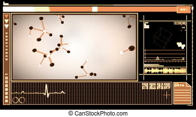 Digital interface featuring falling