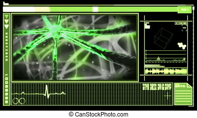 Digital interface showing neuron