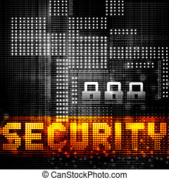 Digital Internet technology background. Security concept