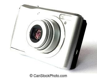 digital kamera, freigestellt, weiß