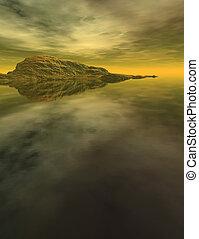 Digital Landscape #03 - Computer generated Landscape with...
