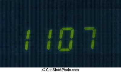 Digital led counter from eleven