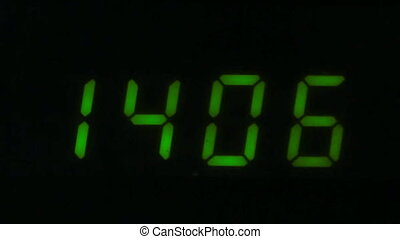 Digital led counter from fourteen