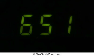 Digital led counter from six