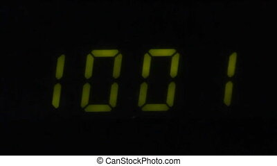 Digital led counter from ten
