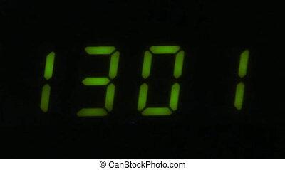Digital led counter from thirteen