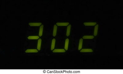 Digital led counter from three in dark