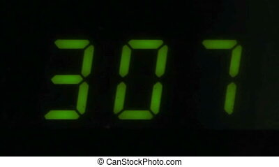 Digital led counter from three