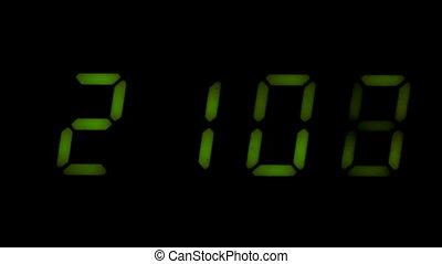 Digital led counter from twenty-one
